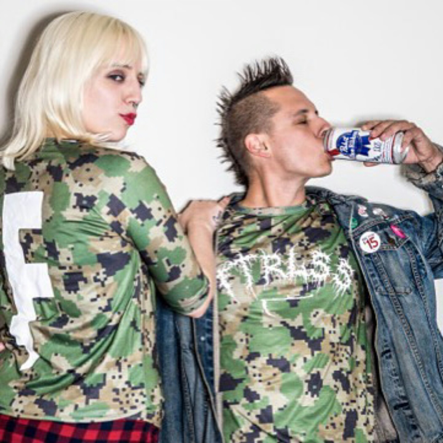Dave and Shandi, representing Futureless Clothing with the kind of verve and lack of fucks that surely makes you want to buy it. I do. Support your small, insane labels.